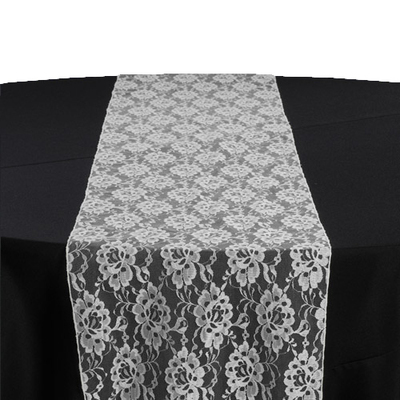 White Lace Table Runner Rental