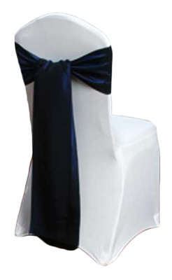 Blue Velvet Taffeta Chair Sashes