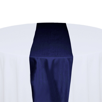 Blue Velvet Taffeta Table Runner Rental