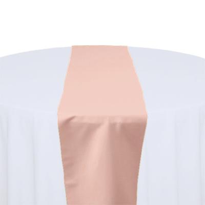 Blush - Rose Gold - Lamour Matte Satin Table Runner Rental