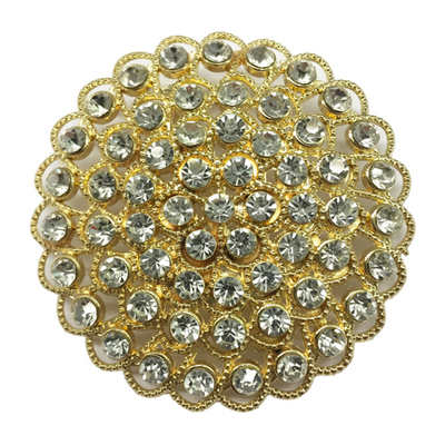 Gold Rhinestone Brooch Rental