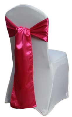 Hot Pink Satin Chair Sashes