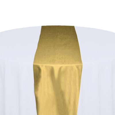 Canary Taffeta Table Runner Rental