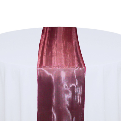 Burgundy Mirror Table Runner Rental