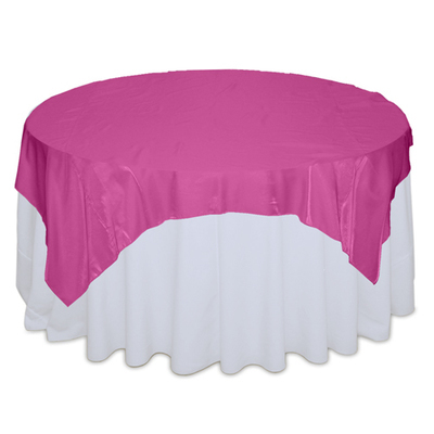 Fuchsia Dark Organza Satin Table Overlay Rental