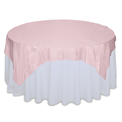 Pink Organza Satin Table Overlay Rental