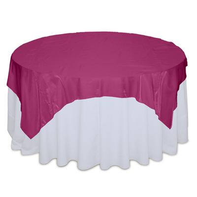 Fuchsia Organza Satin Table Overlay Rental