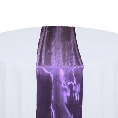 Eggplant Mirror Table Runner Rental