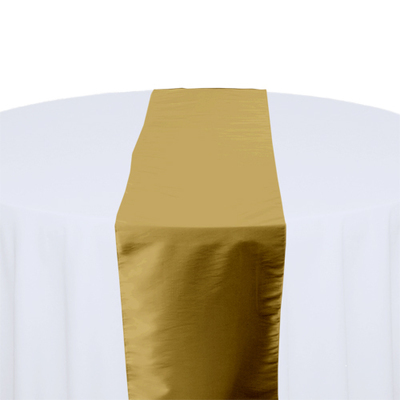 Gold Taffeta Table Runner Rental