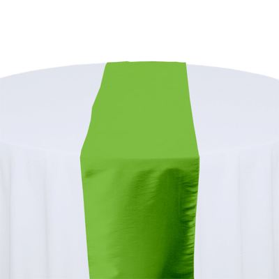 Chartreuse Taffeta Table Runner Rental