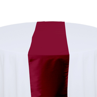 Claret Taffeta Table Runner Rental