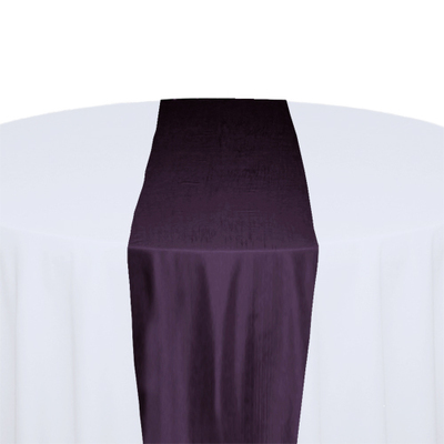 Eggplant Taffeta Table Runner Rental