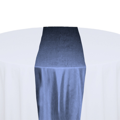 French Blue Taffeta Table Runner Rental