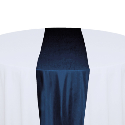 Midnight Blue Taffeta Table Runner Rental