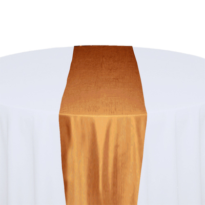 Orange Taffeta Table Runner Rental