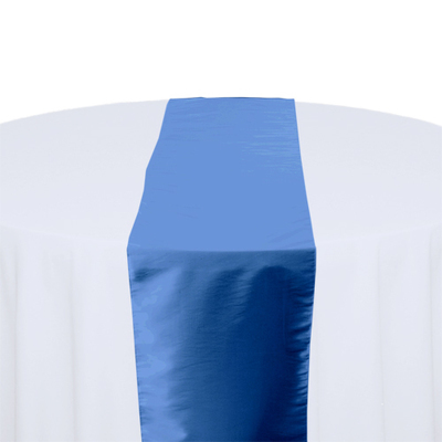 Medium Blue Taffeta Table Runner Rental