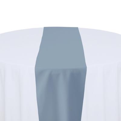 Slate Solid Polyester Table Runner Rental