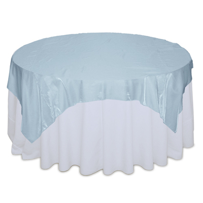 Light Blue Organza Satin Table Overlay Rental