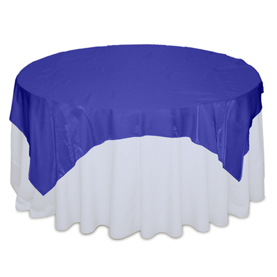 Royal Blue Organza Satin Table Overlay Rental