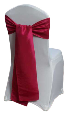 Fuchsia Taffeta Chair Sashes