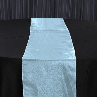 Tiffany Blue Organza Sheer Table Runner Rental