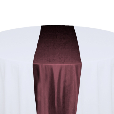 Wine Taffeta Table Runner Rental