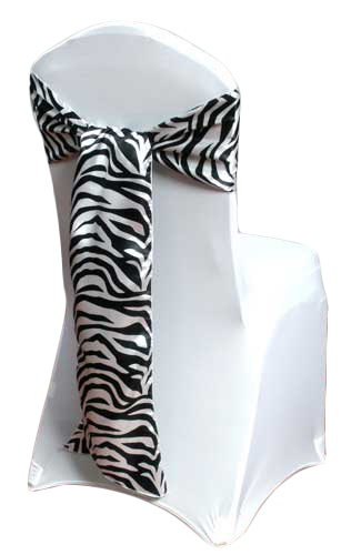 Zebra Print Chair Sash Zebra Chair Sash Rental