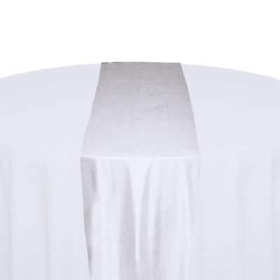 White Taffeta Table Runner Rental