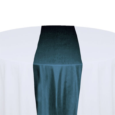 Teal Taffeta Table Runner Rental