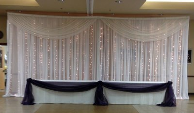 DIY Sheer Lighted Backdrop Rental - Per 12' Section