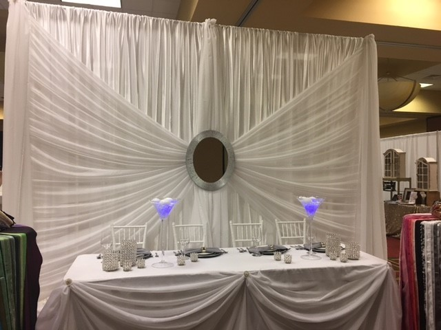 Silver Mirror Backdrop - 12' - Includes Setup & Tear Down Silver Mirror Backdrop - 12'
