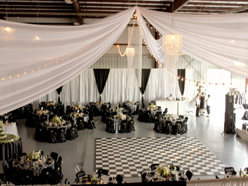 DIY White Sateen Wall Draping - 12' Height - Per Foot White Sateen Wall Draping