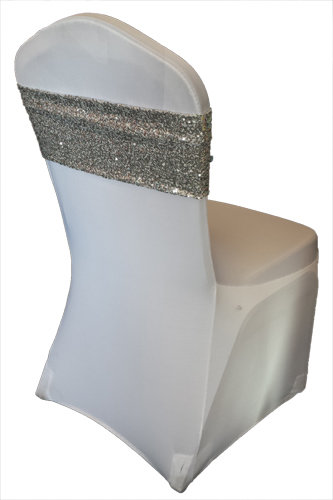 Silver Glitz Sequin Chair Band Silver Glitz Sequin Chair Band