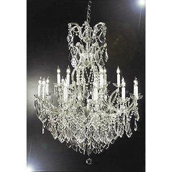 16 Light Silver Crystal Chandelier