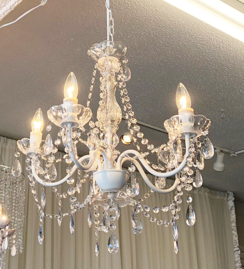 Clear Crystal Chandelier - 5 Light Clear Crystal Chandelier - 5 Light