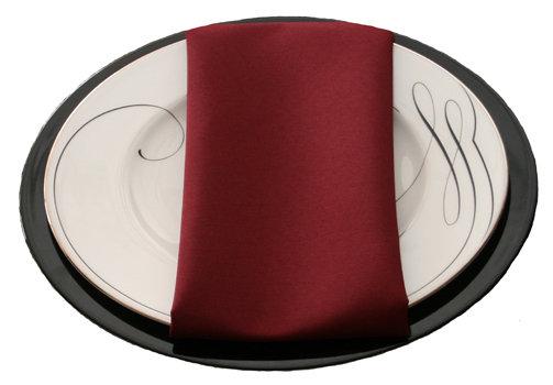 Burgundy Napkins Burgundy Polyester Napkin Rental