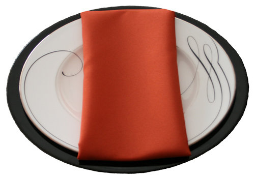 Burnt Orange Napkins Burnt Orange Polyester Napkin Rental