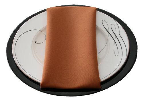 Copper Napkins Copper Polyester Napkin Rentals