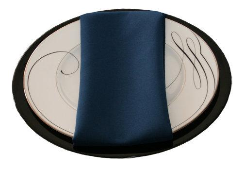 Dark Blue Napkins Dark Blue Polyester Napkin Rentals
