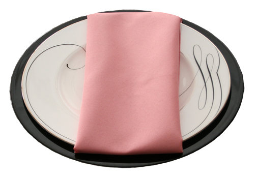 Dusty Rose Napkins Dusty Rose Polyester Napkin Rentals