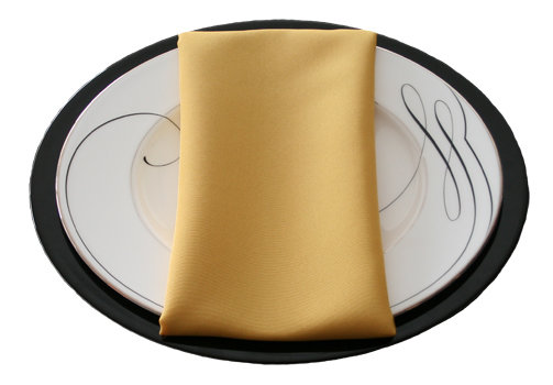 Gold Napkins Gold Polyester Napkin Rentals