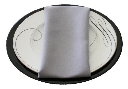 Grey Napkin Grey Polyester Napkin Rental