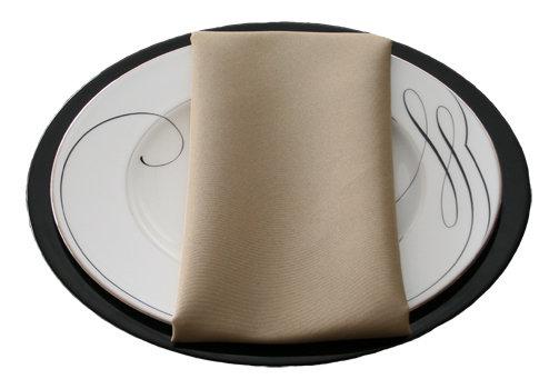 Khaki Napkins Khaki Polyester Napkin Rental
