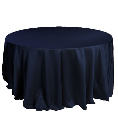 Navy Lamour Matte Satin Tablecloth Rentals Navy Lamour Matte Satin Tablecloth Rentals