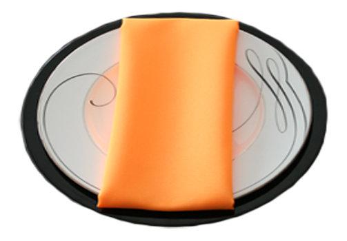 Neon Tangerine Napkins Neon Tangerine Polyester Napkin Rentals