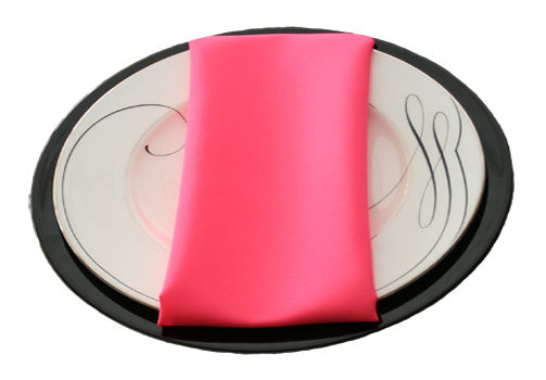 Neon Pink Napkins Neon Pink Polyester Napkin Rental