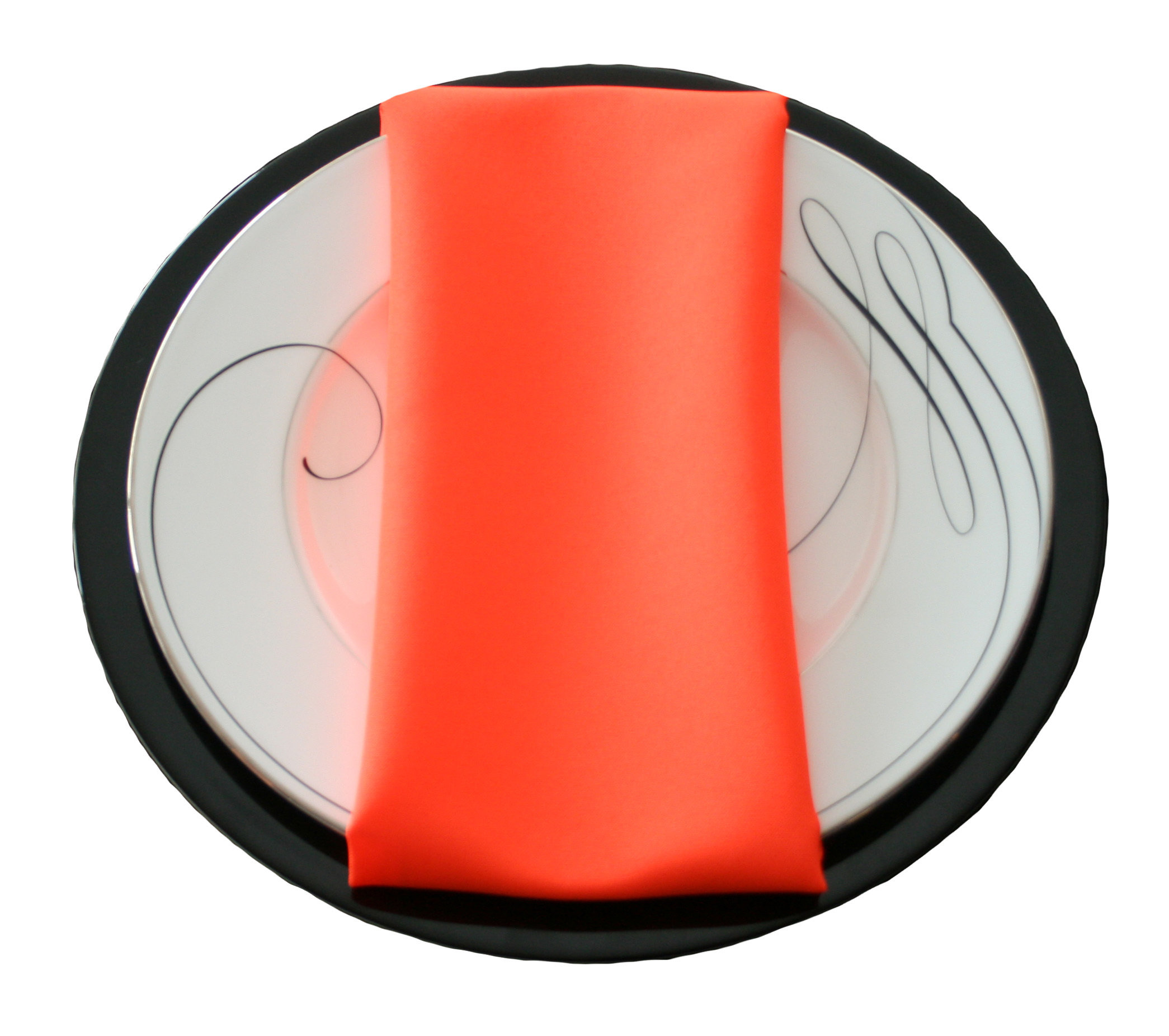 Neon Orange Napkins Neon Orange Polyester Napkin Rentals