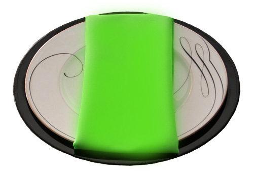 Neon Green Napkins Neon Green Polyester Napkin Rentals