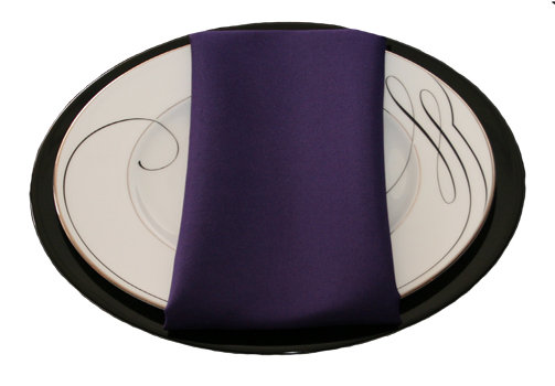 Purple Napkins Purple Polyester Napkin Rental