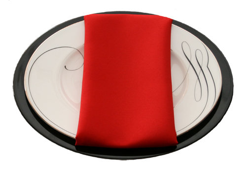 Red Napkins Red Polyester Napkin Rental